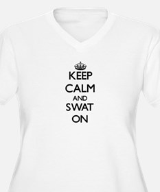 Keep Calm and Swat ON Plus Size T-Shirt