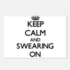 Keep Calm and Swearing ON Postcards (Package of 8)