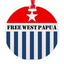 Free West Papua Morning Star Flag Ornament