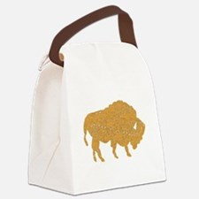Distressed Brown Bison Canvas Lunch Bag