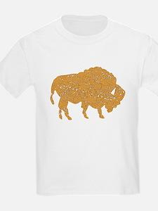 Distressed Brown Bison T-Shirt