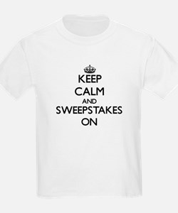 Keep Calm and Sweepstakes ON T-Shirt