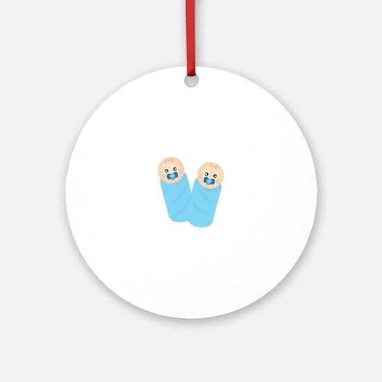 Twin Boys Ornament (Round)