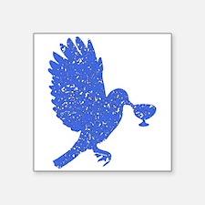 Distressed Blue Dove Sticker