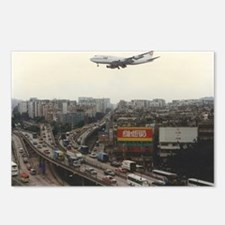 Boeing 747 Flying over cr Postcards (Package of 8)