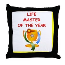 a funny bridge joke on gifts and t-sh Throw Pillow