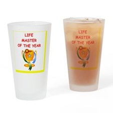 a funny bridge joke on gifts and t- Drinking Glass