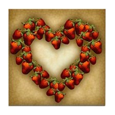Strawberry Heart Tile Coaster