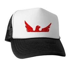 Distressed Red Eagle Trucker Hat