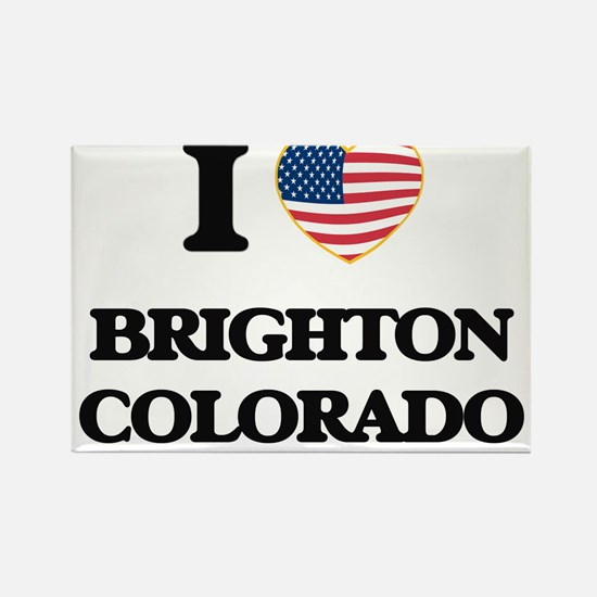 I love Brighton Colorado USA Design Magnets