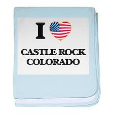 I love Castle Rock Colorado USA Desig baby blanket