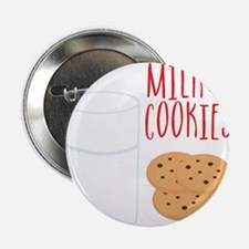 "Milk And Cookies 2.25"" Button (10 pack)"