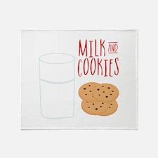 Milk And Cookies Throw Blanket