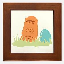 Tropical Easter Egg Framed Tile