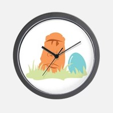Tropical Easter Egg Wall Clock