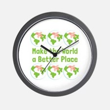 Make World Better Wall Clock