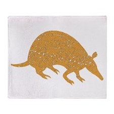 Distressed Brown Armadillo Throw Blanket