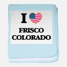 I love Frisco Colorado USA Design baby blanket