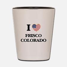 I love Frisco Colorado USA Design Shot Glass