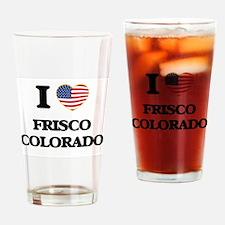 I love Frisco Colorado USA Design Drinking Glass