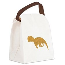 Distressed Brown Anteater Canvas Lunch Bag