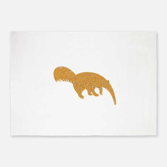 Distressed Brown Anteater 5'x7'Area Rug