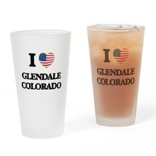 I love Glendale Colorado USA Design Drinking Glass