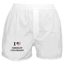I love Greeley Colorado USA Design Boxer Shorts