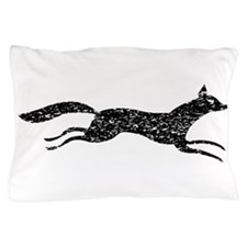 Distressed Fox Silhouette Pillow Case