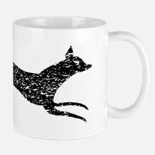 Distressed Fox Silhouette Mugs