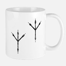 Distressed Bird Footprints Silhouette Mugs