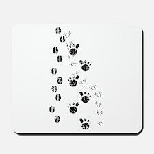 Distressed Animal Tracks Silhouette Mousepad