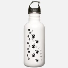 Distressed Animal Tracks Silhouette Water Bottle
