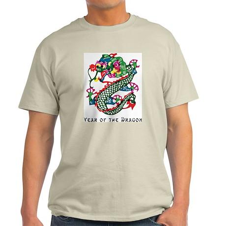 Chinese Paper Cut Dragon Ash Grey T-Shirt