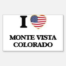 I love Monte Vista Colorado USA Design Decal