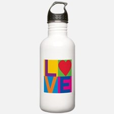 Love Checked Water Bottle
