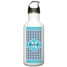 Aqua Blue Dachshund Pa Water Bottle
