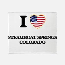 I love Steamboat Springs Colorado US Throw Blanket