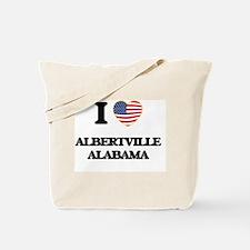 I love Albertville Alabama USA Design Tote Bag