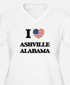 I love Ashville Alabama USA Desi Plus Size T-Shirt