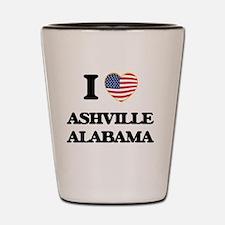 I love Ashville Alabama USA Design Shot Glass