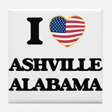 I love Ashville Alabama USA Design Tile Coaster