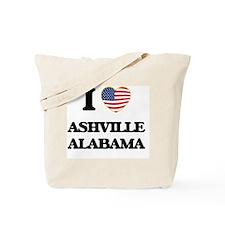I love Ashville Alabama USA Design Tote Bag