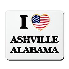 I love Ashville Alabama USA Design Mousepad