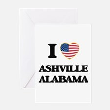 I love Ashville Alabama USA Design Greeting Cards