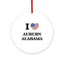 I love Auburn Alabama USA Design Ornament (Round)