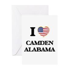 I love Camden Alabama USA Design Greeting Cards