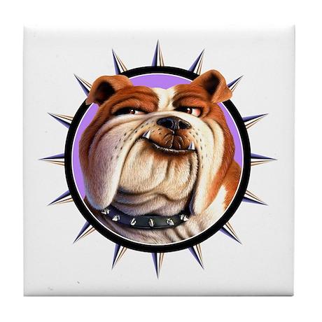 Bulldog 3 Tile Coaster