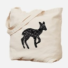 Distressed Fawn Silhouette Tote Bag