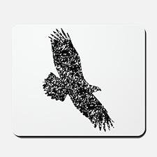 Distressed Eagle Silhouette Mousepad